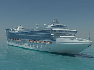 3d model caribbean princess