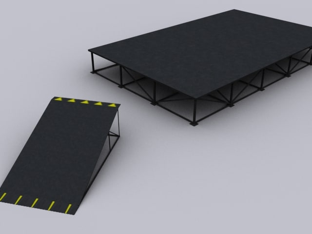 3ds max stage ramp