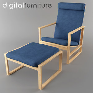 armchair digital 3d max