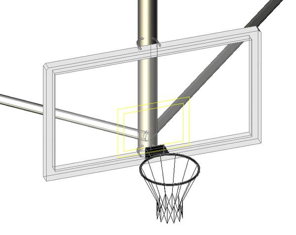 basketball goal dwg