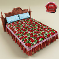 Bed with coverlet V3