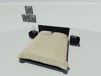 3ds max bedroom bed