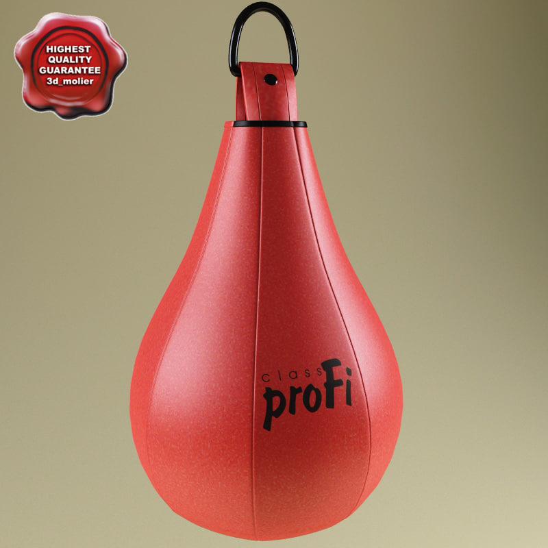 3d model of boxing speed bag