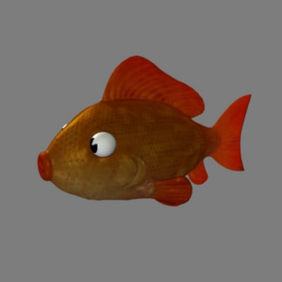 cartoon fish goldfish 3d ma