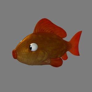 cartoon fish goldfish 3d ma