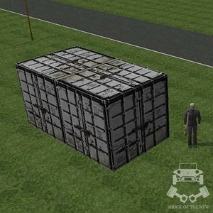 free shipping container 3d model