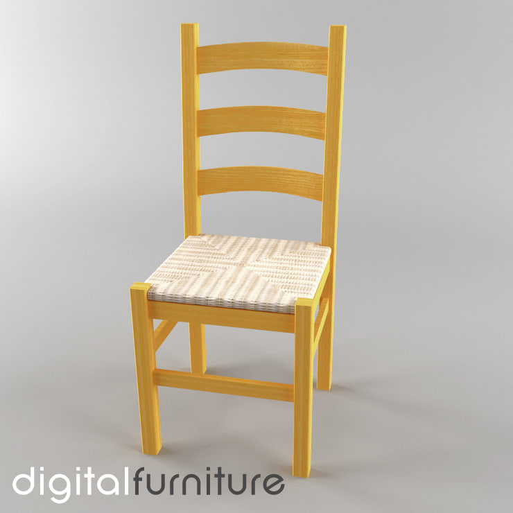 dining chair 3d dxf