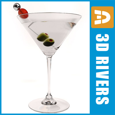 3d model dirty martini
