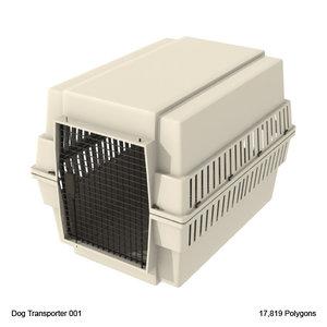 dog transport carrier 3d model