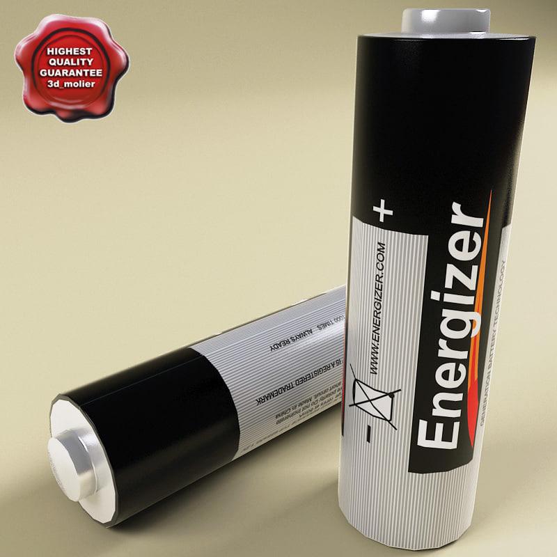 energizer battery 3d model