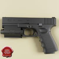 realistic glock 17 3d model