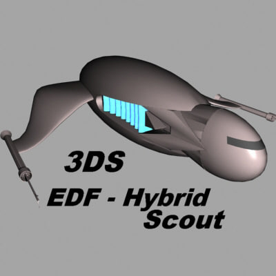 3dsmax edf hybrid scout