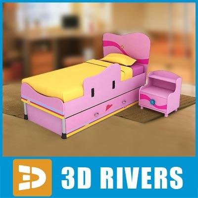 Kids Bedroom 3d Model kids bed - creditrestore