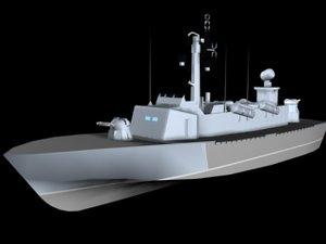 3ds max corvette style ship boat