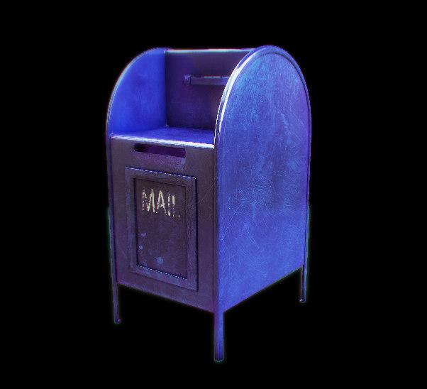 street mailbox 3d obj