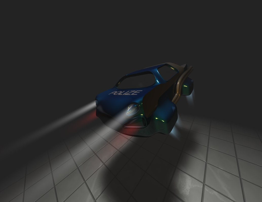hover vehicle c4d