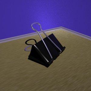 paper clamp 3d model