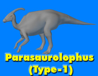 parasaurolophus type-1 3d model