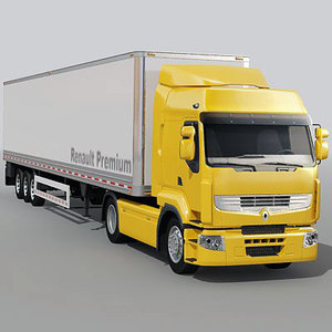 3dsmax renault premium truck trailer
