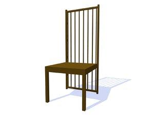 robie house chair 3d dwg