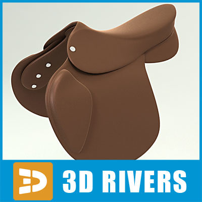 saddle horse racing 3d obj