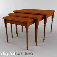 3d model table digital