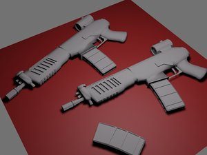 free machine pistol 3d model