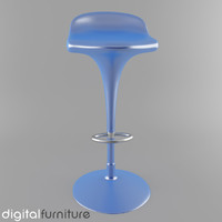 stool digital 3d dxf