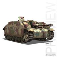 3d model sturmgeschütz iii stug tank destroyer