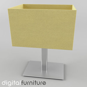 table lamp 3d 3ds