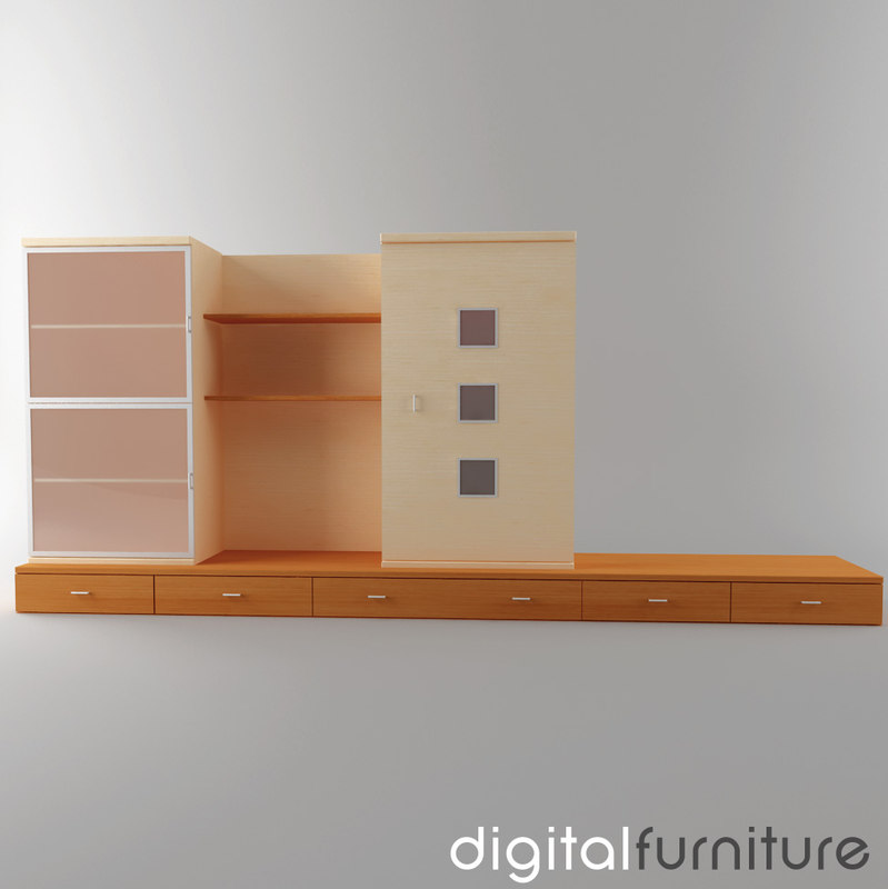 3d model wall digital