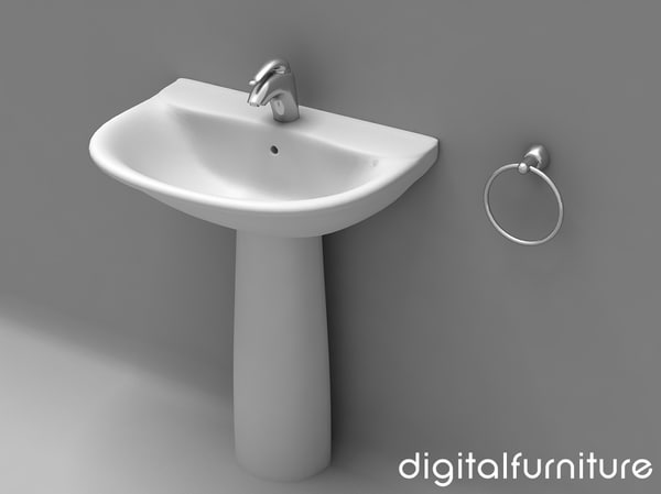 washbasins toilet 3d max