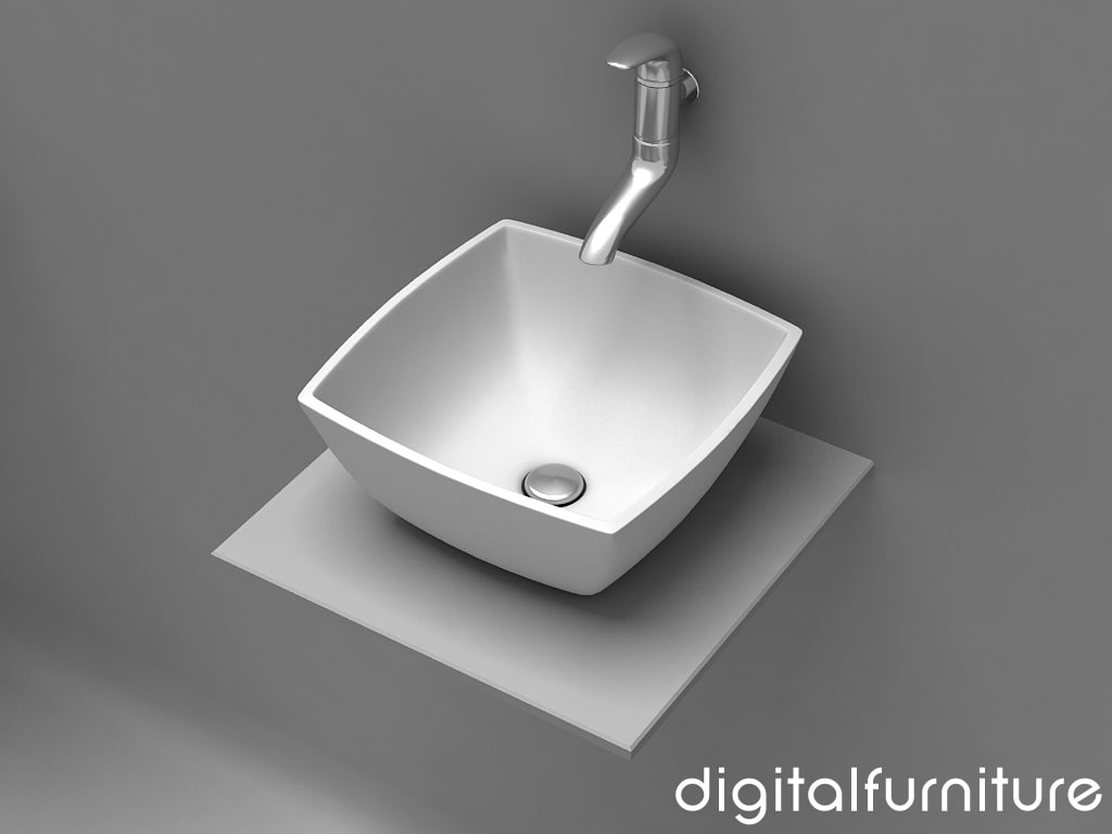 washbasins toilet 3d 3ds