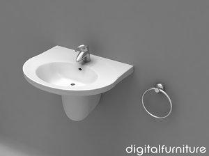 3d 3ds washbasins wash basin