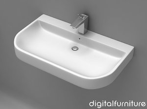 3d washbasins toilet model