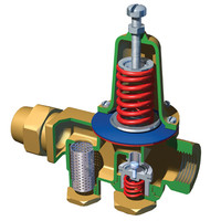 water pressure relief valve 3d model