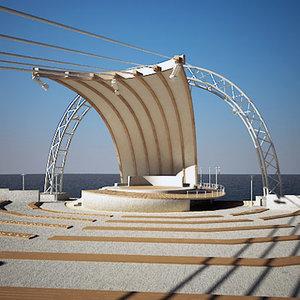 3dsmax amphitheater theater