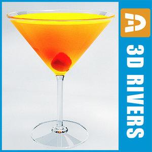 3dsmax amaretto sour cocktail