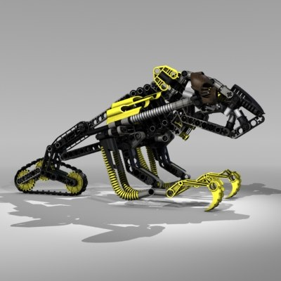 3d model lego robot bionicle