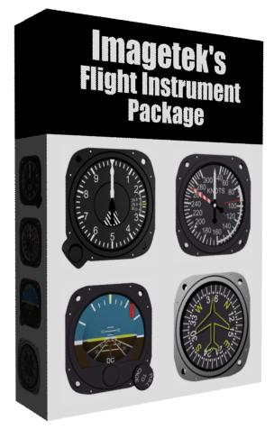 3d aircraft flight instruments boxed