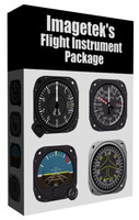 3d aircraft flight instruments boxed