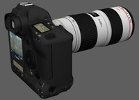 canon 1d markiii digital camera 3d model