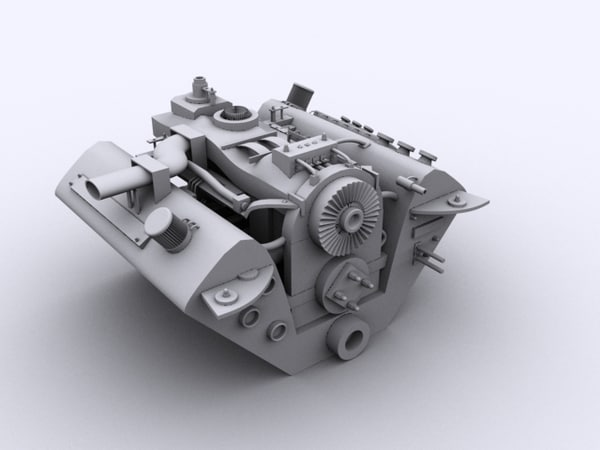 3d max engine vehicle