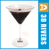 espresso martini 3d model