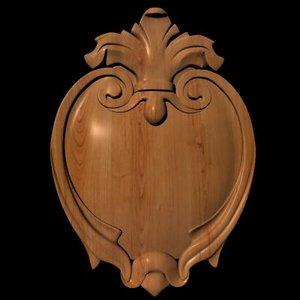 3d model decorative wooden