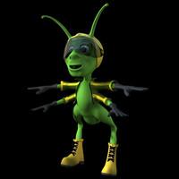 grasshopper character 3d model