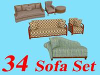 34 sofa sets 3d model