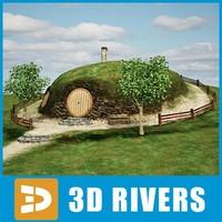3d house hobbit fantasy