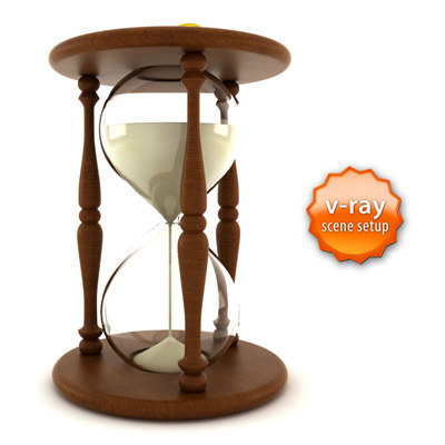3d hourglass hour glass model
