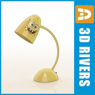 3d 3ds sponge bob kid desk lamp